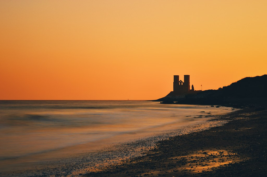 Reculver Towers at sunrise