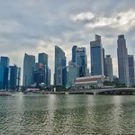 Skyline of the Central Business District (CBD) at Marina Bay in Singapore thumbnail