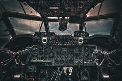 Shackleton Cockpit.... (inkslinger15) Tags: bracketed gatwick hdr planes museum aviation shackleton mk3 cockpit photomatix lightroom