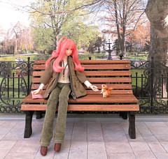 Candy (MurderWithMirrors) Tags: momoko doll petworks peachsmoothie alicessweetrement miniature squirrel peanuts mwm