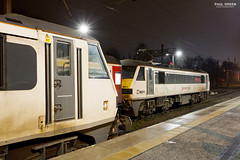 Class 90014 and 90011 at Norwich 19/2/2018 (Paul-Green) Tags: norwich train railway station class 90 electric loco engine 90011 90014 flickr canon camera february 2018 uk gb railways aga abellio greater anglia passenger service norfolk night photography b bulb setting outdoors cold winter wet evening