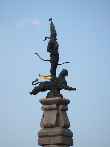 Statue of the Golden Warrior - Republic Square, Almaty