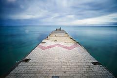Concrete dock (georgeeleftheriadis@ymail.com) Tags: seascapes longexposure landscape nikon lee leebigstopper seafront dock concrete greece halkidiki d800e sky