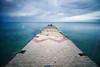 Concrete dock (georgeeleftheriadis@ymail.com) Tags: waterfront water seascapes longexposure landscape nikon lee leebigstopper seafront dock concrete greece halkidiki d800e sky