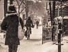 rien n'arrête les Montréalais - 3 (photosgabrielle) Tags: photosgabrielle hiver snow streetphotography winter people bike neige urban