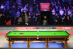 My view from Row E (zawtowers) Tags: 2018 dafabet masters snooker tournament alexandra palace ally pally london invitation only event top 16 ranking sport competitive view row e facing blue spot pockets evening session afsnikkor50mmf18g 50mm fifty