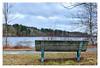 Wampatuck Pond (Timothy Valentine) Tags: 0118 large bench wampatuckpond 2018 monday hanson massachusetts unitedstates us