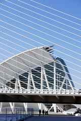 Lines (roomman) Tags: 2018 spain valencia town city architecture style design bridge line lines straight structure high tall blue colour art building buildings ciudad ciutat des de les arts artes sciences ciencas architect traba science e cienies