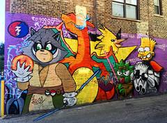 Pokemon Go!  by Alix Six (wiredforlego) Tags: graffiti mural streetart urbanart aerosolart publicart chicago illinois ord alisix