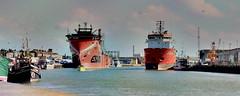 Supply or Demand (innpictime ζ♠♠ρﭐḉ†ﭐᶬ₹ Ȝ͏۞°ʖ) Tags: norfolk greatyarmouth maritimefestival boat vessel ship supplyvessel havyard832sov esvagtnjord imo9767039 riveryare southquay water quay quayside dock cranes harbour craft port chimney malaviyatwenty imo9303481 albatross supplyvesselsesvagtnjord2016andmalviyatwentyberthedatgreatyarmouthnorfolk 526057881724489
