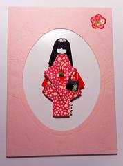 APC104 (tengds) Tags: origamidoll japanesepaperdoll handmadedoll paperdoll japanesepaper handmadepaper yuzenwashi washi chiyogami pink circles bag black allpurposecard handmadecard card flowers papecraft tengds nailartsticker