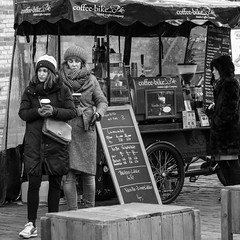 coffee-bike (every pixel counts) Tags: 2018 berlin kulturbrauerei streetfood street coffee blackwhite bw europa blackandwhite germany eu everypixelcounts hawker bike bicycle foodcart day daylight winter hiver sign blackboard