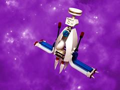 Futuron SX-320 (Satellite) (Crimso Giger) Tags: lego moc futuron space ship satellite