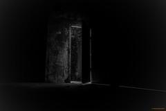 Do you dare (MIKAEL82KARLSSON) Tags: bw svartvit svartvitt sverige sweden dalarna bergslagen betong dörr door light sony rx100lll skyddsrum ue urbanexplorer underground underjord urban explorer longexpo mikael82karlsson explore flickr