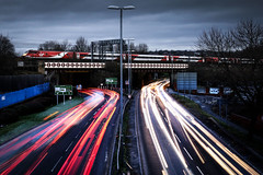 Leads to Leeds (Andrew Shenton) Tags: holbeck leeds vtec class91 traffic night virgineastcoast