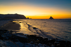 The sun is about to return after the dark winter months (harald.bohn) Tags: sun sol sky himmel vinterhimmel dagslys daylight bleik vesterålen andøya bleikstranda januar january vinter winter norge norway