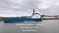 NAO Power - Aberdeen Harbour Scotland - 5/2/2018 (DanoAberdeen) Tags: dano danoaberdeen danophotography aberdeen aberdeenscotland aberdeencity abdn aberdeenharbour abz candid amateur seafarers workboats shipspotters shipspotting ships vessels 2018 tugboat tug northsea northseasupplyships northseasupplyvessels northeastsupplyships northeastsupplyvessels northeastscotland maritime seaport seascape harbour marineoperationscentre aberdeenunionstreet merchantnavy naopower oilships oilrigs oilrigsupplyships offshore offshoreships offshorevessels grampian geotagged pocraquay water torry torrybattery mpeg iphone iphoneography iphonevideo 4k video autumn summer winter spring cargoships scotland scottish nordicamericanoffshore bluethunder oilandgas