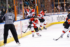 "Kansas City Mavericks vs. Cincinnati Cyclones, February 3, 2018, Silverstein Eye Centers Arena, Independence, Missouri.  Photo: © John Howe / Howe Creative Photography, all rights reserved 2018. • <a style=""font-size:0.8em;"" href=""http://www.flickr.com/photos/134016632@N02/40086499952/"" target=""_blank"">View on Flickr</a>"