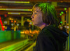 Santa Monica Pier at night (lgflickr1) Tags: santamonicapier california pier rollercoaster night lowlight bokeh lights green colorful nighttime coloredlights multicolored stare boy child teenager