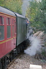 A4 60009 : Official Opening of Chandlers Ford Stn., 19 Oct 2003 (Ian D Nolan) Tags: 35mm epsonperfectionv750scanner lner 60009 unionofsouthafrica