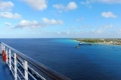 View from our cruise ship last year (Trinimusic2008 - stay blessed) Tags: trinimusic2008 judymeikle nature travel vacation february2017 beach ocean sea sky grandturks trees coconuttrees cruiseships ships skies clouds water panasonicdmczs45