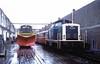 211 217  Freudenstadt  24.10.82 (w. + h. brutzer) Tags: freudenstadt eisenbahn eisenbahnen train trains deutschland germany diesellok dieselloks railway lokomotive locomotive zug 211 db v100 webru analog nikon