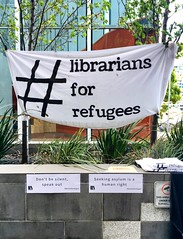 """44/365 Librarians for refugees (retrokatz) Tags: """"librariansforrefugees"""" banner humanrights caring 365the2018edition 3652018 day44365 13feb18"""