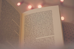 7/52 || happy place (*mirt) Tags: book bokeh stilllife reading lights night weeklychallenge