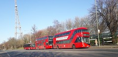 Side by Side (Unorm001) Tags: lt699 ltz1699 lt 699 ltz 1699 2432 sn61cys sn61 cys red london double deck decks decker deckers buses bus routes route diesel hybrid electric dieselelectric battery batteryelectric hybridelectric