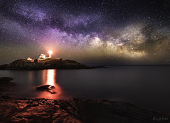 Milkyway at Nubble Lighthouse (abhijitcpatilphotography) Tags: darkness nighttime astrolandscape astrophotography astro seascape landscape nikonphotography nikon skyafterdark sky afterdark nightshooters nightphotography nightshot night milkywaychasers galaxy milkyway