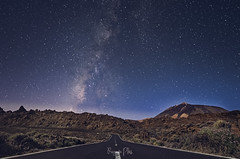 Fools rush in where angels fear to tread. (f25design) Tags: tenerife canary clean cielo sky paysage colourful mountains landscapes outdoor dream walking paisaje nikon teide stars noche night dark carretera milkyway víaláctea parquenacionaldelteide parquenacional starrynight