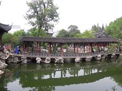 China (Shanghai) Beautiful bridge in the Yu Garden (ustung) Tags: china shanghai bridge yugarden tree pool pond water reflection