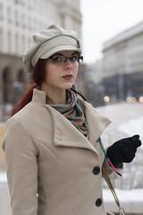 Desi (saromon1989) Tags: portrait girl woman fashion model designed designer winter snow glasses lovely beautiful beauty