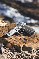 IMG_9274 (DUSTIN.FAULKNER) Tags: dustinfaulkner photography guns knives knife crkt beretta 92fs inox stainless cerakote custom hogue grips midnightsand