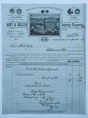 Versandhandel anno 1907 (Werner Schnell Images (2.stream)) Tags: ws rechnung 1907 meyedlich leipzig rodheim korsett paper papier bill plagwitz
