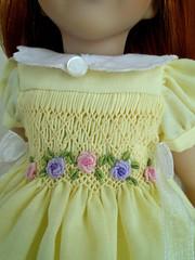 "Dianna Effner, Mini Maru and other 13"" doll (mintomonica18) Tags: effner sunny bullionroses dolldress smocking"