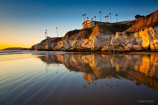 Pismo Cliffs Near Sunset
