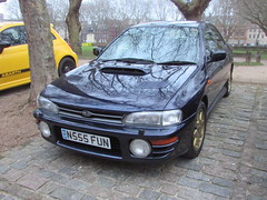 Subaru Impreza WRX Series McRae N555FUN (Andrew 2.8i) Tags: queen queens square bristol breakfast club classic classics car cars show meet japanese rally sports sportscar turbo wrx seriesmcrae impreza subaru