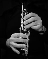 Finger Buffet (Boxertrixter) Tags: clarinet musicalinstrument hands woodwind buffetrc monochrome blackwhite olympuspenf microfourthirds mirrorless olympuscamera buffetcrampon 500pxcom