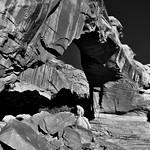 A Sideward View of the Hickman Bridge (Black & White, Capitol Reef National Park) thumbnail