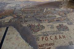 Mosaic map of Jerusalem, Madaba, Jordan, January 2018 486 (tango-) Tags: giordania jordan middleeast mediooriente الأردن jordanien 約旦 ヨルダン madaba mosaic jerusalem