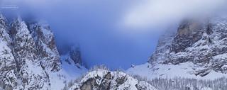 Val de Mesdi winter panorama N°3 - narrow version