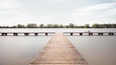 Lakeside (panfot_O (Bernd Walz)) Tags: pier lake lakescape waterscape landscape poland silence calmness summer peaceful fineart longexposure minimalistic minimalism