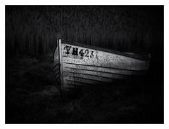 Long Forgotten (merseamillsy) Tags: boat dinghy wooden abandoned wreck ruin forgotten lost mono monochrome coast coastal coastline marsh saltmarsh merseaisland essex