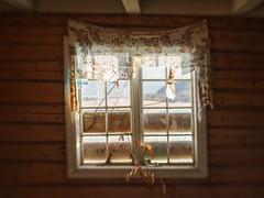 Crooked old window (Helena Normark) Tags: decayingwindow oldwindow decayinghouse oldfarmhouse leinstrand leinstrandmarka trondheim sørtrøndelag norway norge sonyalpha7 a7 50mm lensbaby sweet50 lensbabysweet50 lensbabylove seeinanewway