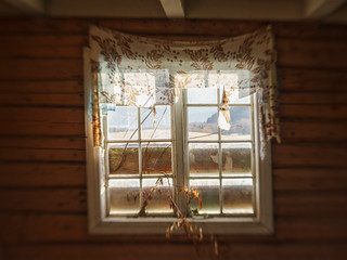 Crooked old window