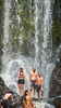 At Piroa Falls 18 (C & R Driver-Burgess) Tags: boys girls teens preteens family brother sister nephew niece uncle son daughter friends swim dive jump pool waterfall river rocks leap fall yellow bikini togs swimsuit moss cliff steep fern trees sit talk watch look