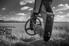 Herringfleet Mill, Suffolk  1 of 4 (+Pattycake+) Tags: herringfleet smockmill mill eastanglia countryside monochrome blackandwhite sky grass field meadow contrasts landscape canoneos70d 1022mm chain metal closeup machinery