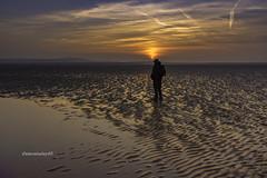 llanelli sunset (stevenbailey7) Tags: sunsets new ripples seaside clouds seascape orange golden outside light winter landscape scenery silhouette skyskape