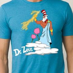 Dr. Zeus (sherwoodscot) Tags: drseuss zeus catinthehat clouds tshirt funnytshirt parody funny graphicdesign beginersbook gods mtolympus drzeus scottsherwood lightiningbolt